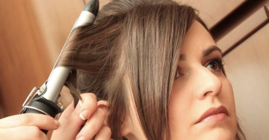 usar un rizador de pelo en pelo corto